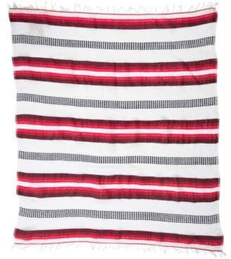 Lemlem Striped Fringe Scarf w/ Tags Red Striped Fringe Scarf w/ Tags
