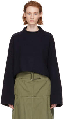J.W.Anderson Navy Cable Detail Sweater