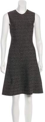 Derek Lam Flared Knee-Length Knit Dress
