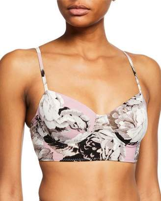 Norma Kamali Floral Print Bustier Underwire Swim Top