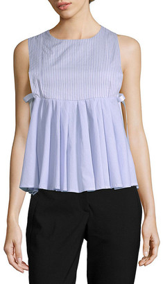 Romeo & Juliet Couture Sleeveless Babydoll Pleat Top