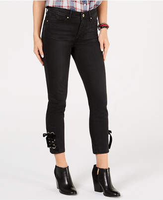 Tommy Hilfiger Lace-Up Cropped Jeans