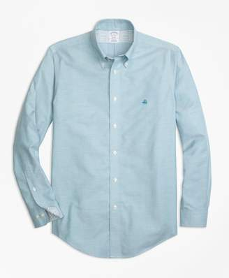 Brooks Brothers Non-Iron Regent Fit Supima Cotton Oxford Sport Shirt