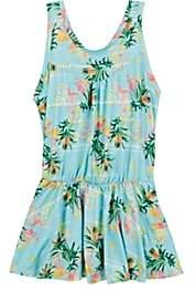 "Peixoto Kids' ""Pearl"" Pineapple-Print Sleeveless Dress-Green"
