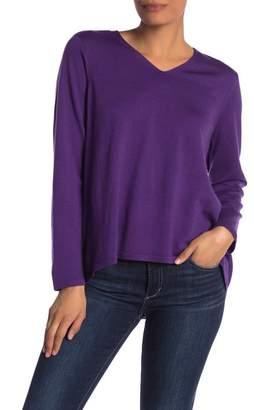 Eileen Fisher Merino Wool High/Low Sweater