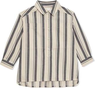 Burberry Striped Cotton Wool Shirt