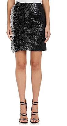 Jourden Women's Embellished Mixed-Media Miniskirt