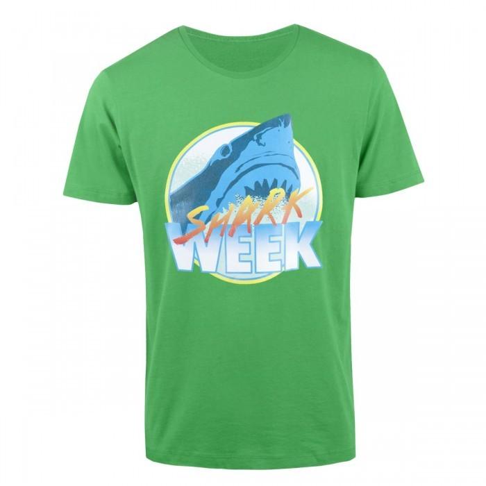 Discovery Shark Week Retro Neon Green T-Shirt