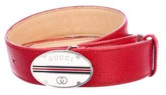 Gucci Vintage Leather Hip Belt