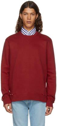 Valentino Red Rockstud Untitled Sweatshirt
