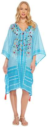 Hat Attack Embellished Mid Length Cover-Up Women's Swimwear