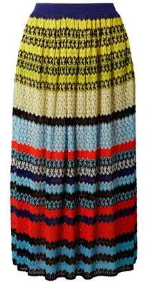 Missoni Striped Crochet-knit Midi Skirt 4c6454895
