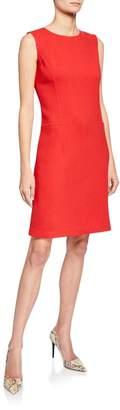 Lafayette 148 New York Selita Wool Seam-Detail Sheath Dress
