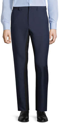 Prada Contrast-Stripe Wool-Blend Pants