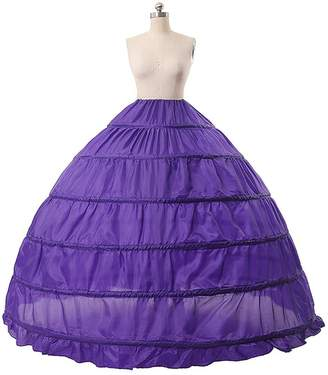 Wendybridal Women's 6 Hoops Ball Gown Petticoat for Special Occasion Dress