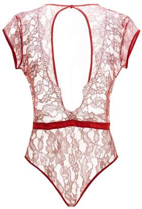 Coco De Mer Lace V-Neck Bodysuit