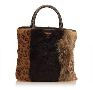 Christian Dior Vintage Fur Tote