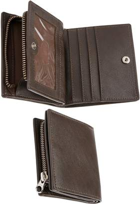 Next Mens Brown Leather Bifold Wallet With Zip Pocket