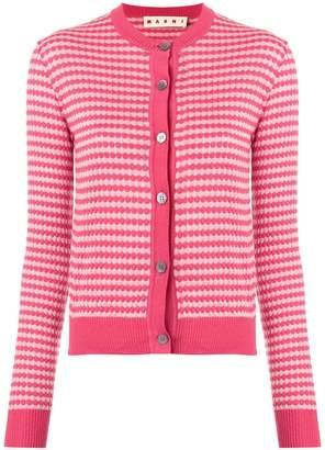 Marni cropped patterned cardigan