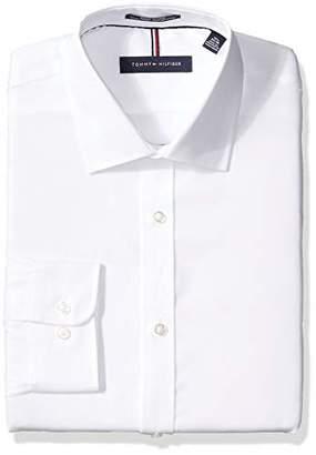 """Tommy Hilfiger Men's Slim Fit Dress Shirt -, 17.5"""" Neck 32""""-33"""" Sleeve"""