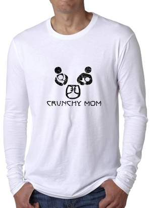 Hollywood Thread Crunchy Mom - Nursing Breast Feeding Support Men's Long Sleeve T-Shirt