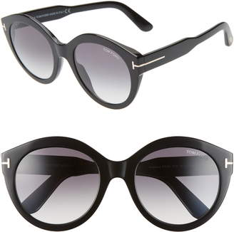 5fe1f651e3a Tom Ford Rosanna 54mm Round Cat Eye Sunglasses