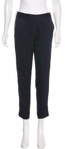 Kate Spade New York Mid-Rise Silk-Accented Pants
