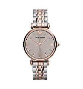 Emporio Armani Gianni T-Bar 2-Tone Watch