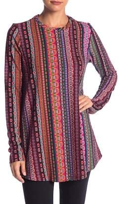 Show Me Your Mumu John Patterned Long Sleeve Sweater