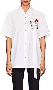 Ambush Women's Embroidered Cotton Blouse - White