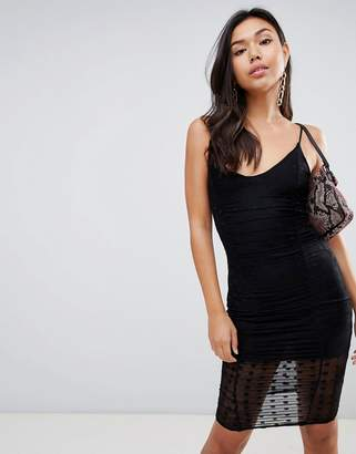 Missguided mesh spot dress