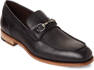 Bacco Bucci Black Mossi Leather Bit Loafers