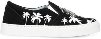 Chiara Ferragni 20mm Palms Cotton Slip-On Sneakers