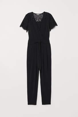 H&M Jumpsuit with a lace yoke
