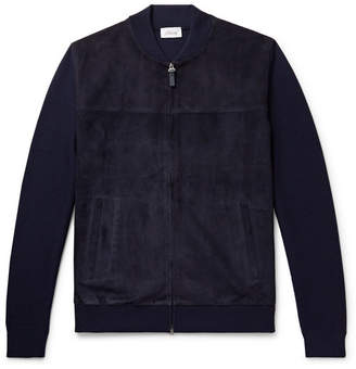 Brioni Slim-Fit Suede And Virgin Wool Bomber Jacket