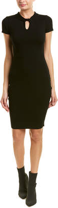 Milly Mock Collar Sheath Dress
