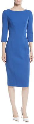 Michael Kors 3/4-Sleeve Stretch Boucle Crepe Dress