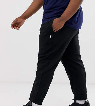 Polo Ralph Lauren Big & Tall icon logo cuffed joggers in polo black
