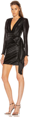 Givenchy Pleated Bow Wrap Dress in Black | FWRD