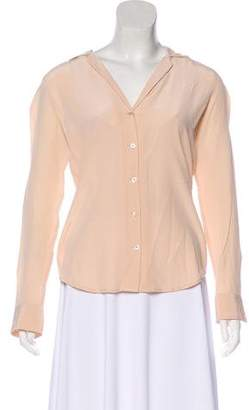 Equipment Button-Up Long Sleeve Blouse