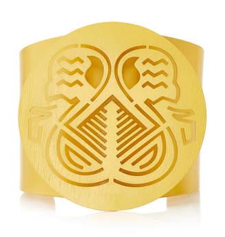 Paula Mendoza Pacha Gold-Plated Brass Cuff Bracelet