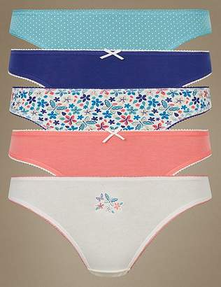 Marks and Spencer 5 Pack Cotton Rich Thong