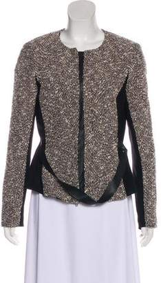 Lafayette 148 Metallic-Accented Knit Jacket