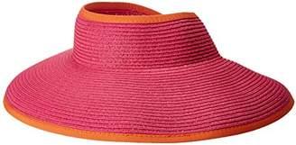 San Diego Hat Company Women's Ultrabraid Visor with Ribbon Binding