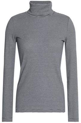 Petit Bateau Striped Cotton-Jersey Turtleneck Top