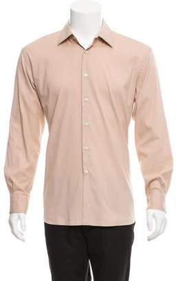 Prada Woven Button-Up Dress Shirt