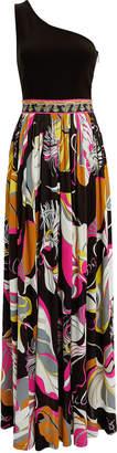 Emilio Pucci Leaves Printed Dress