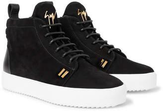 Giuseppe Zanotti Logoball Nubuck High-Top Sneakers - Men - Black