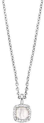 Ti Sento Milano Rhodium Plated Sterling Silver Necklace of Length 38-48cm 3872MW/4