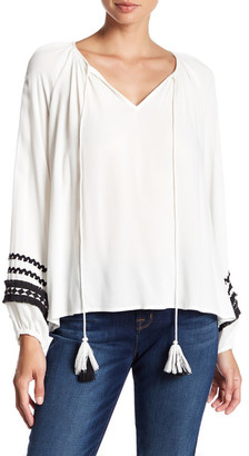 Do + Be Embroidered Bishop Sleeve Blouse $52.50 thestylecure.com